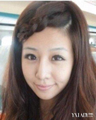美容 发型 流行发型 / 正文  额头两边头发少 有些人脸形是很不错