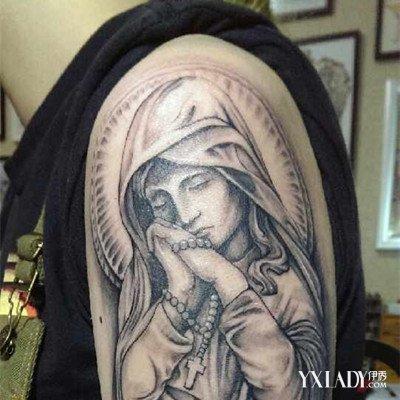 【图】耶稣之圣母玛利亚纹身图片欣赏