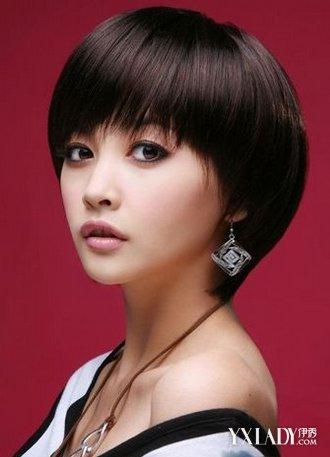 学生短发发型女圆脸怎么剪 4款发式韵味十足图片