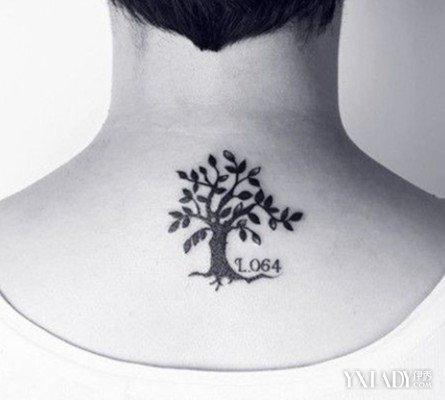 【图】后颈纹身图片大全 解读纹身的图案意义