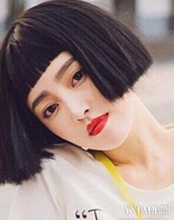 高冷韩范短发女士发型图 款款发型美到图片