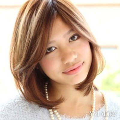 【图】头发少的短发发型图片欣赏 斜分刘海内扣梨花头