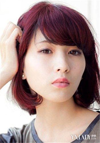 【图】时尚女生深葡萄红头发图片 塑造百变轻熟女图片