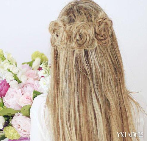 【图】森女发型图片 超仙花朵编发让你美出新高度