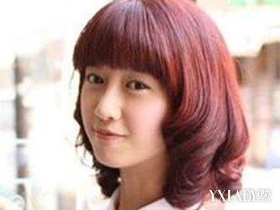 【图】烫发长度酒头发发8种色泽酒红经典_酒红头中等发型流行图片图片