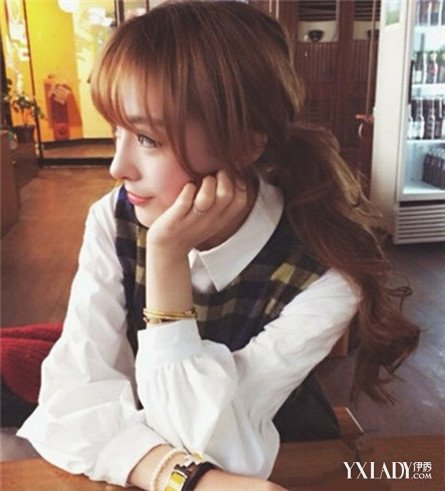 【图】盘发刘海步骤v盘发短发7款韩国当下最流发型空气造型长发