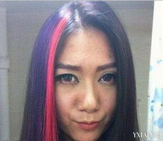 【图】黑色挑染粉紫色头发图片分享