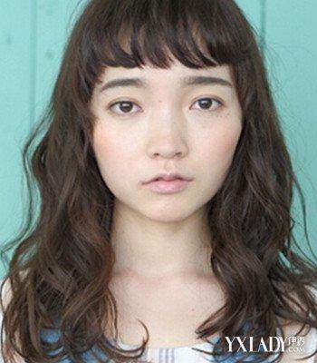 【图】女生大脸中长发烫发发型图片
