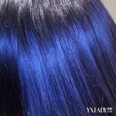 【图】黑蓝色头发效果图展示 黑蓝色头发打蜡怎么做?
