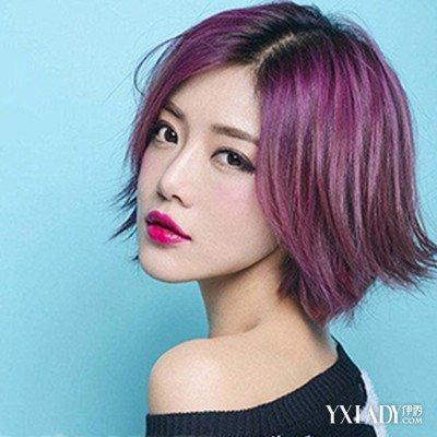 【图】浅紫红色头发图片女发型大全 领衔染发界时尚图片
