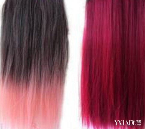 黑色渐变酒红色头发怎么染 渐变色染发教程详细解析图片