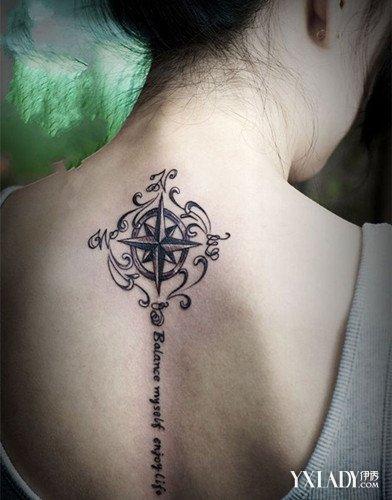 美女背部纹身图案大全 尽展女人性感之美