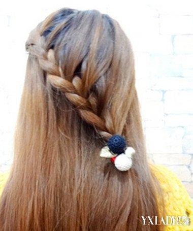 【图】欣赏齐刘海披发编发发型 田园风淑女范超人气