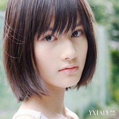 【图】圆脸齐刘海短发发型 女生短发有那几款图片