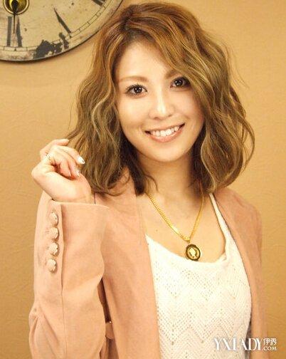 【图】2016中长发卷发发型图片