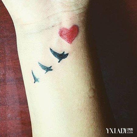 【图】爱心纹身图案大全 简单款更加耐看(4)_纹