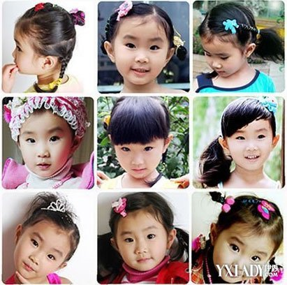【图】小女孩编发发型扎法图展示 教你可爱的小孩发型图片
