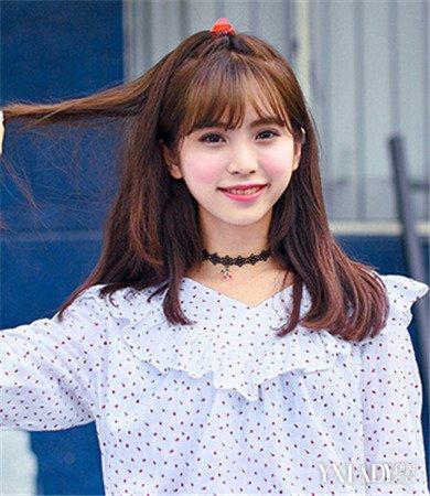 【图】韩国中长发发型图片欣赏图片