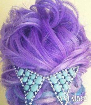 淡紫色欧式大波浪