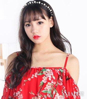 2018圆脸韩国空气刘海长卷发发型 时尚吸睛塑造完美脸型图片