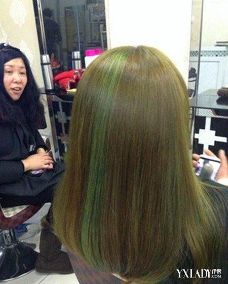 染闷青头像色头发女生头型染发做亚麻图片女生应该图片