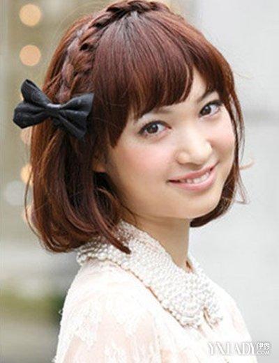 美容 发型 diy发型 / 正文  短发辫子发型图片 美颜可以依靠ps,发型图片