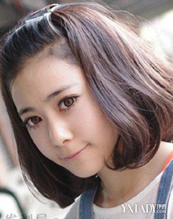 盘点短发发型女圆脸无刘海图片 圆脸妹子修脸必备发型