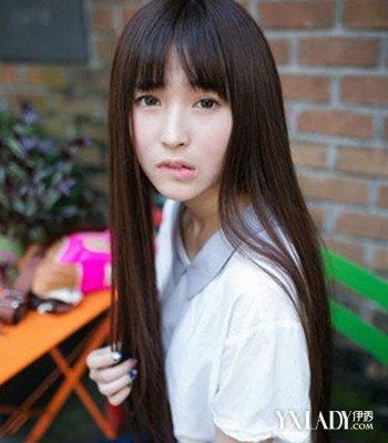 齐刘海直发发型图片女中长发 让你轻松变女神哦图片