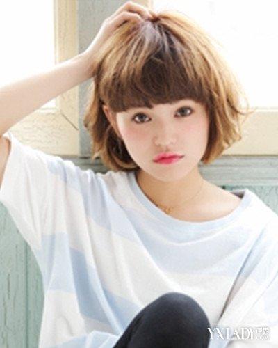 齐刘海短发发型图片2017女