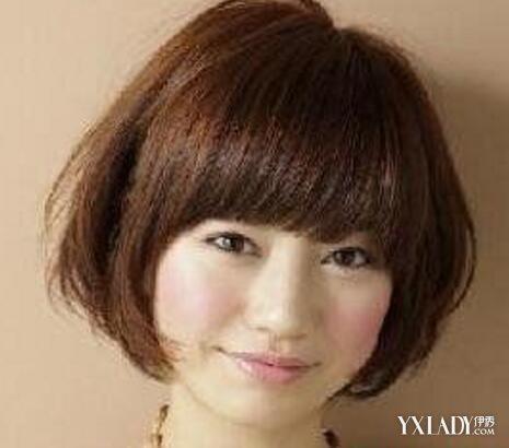 【图】大脸剪什么短发好看图片 盘点冬季圆脸女生适合的短发发型图片