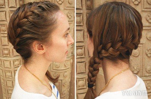 耳侧编发发型图片展示