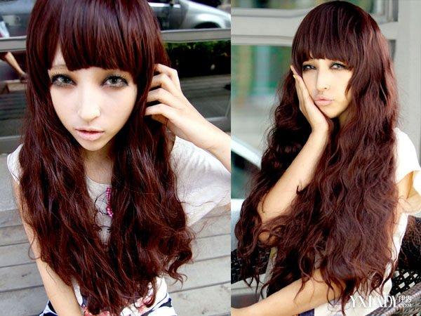 一款中长发内扣梨花头发型不仅显气质而且对于短发的妹子们来说特别显