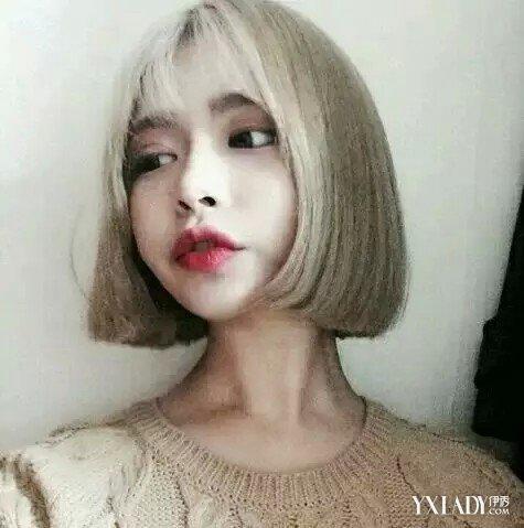 【图】韩国原宿风短发发型图片大全 色彩的混搭和配合