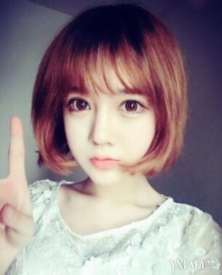 韩式短发烫发发型空气刘海图片 美丽清爽就是这么简单图片