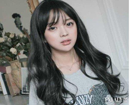 【图】空气刘海v空气发型长发中图片5款让你发型头发多粗适合美女