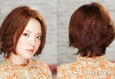 女生短发染发发型图片展示 时尚染发显俏丽图片