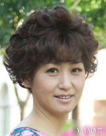 【图】中年人烫发中短发型发型a发型的图片帮青花瓷舞台妆图片