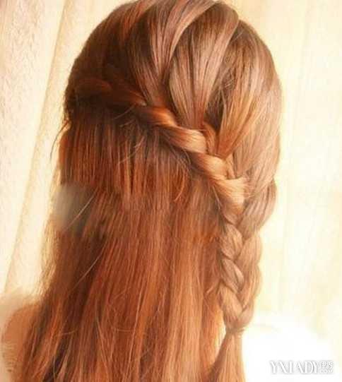 【图】关于淑女编发发型半扎半披图解 让你充满公主的图片