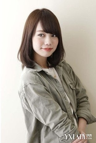 【图】刘海齐肩发烫发发型图片2015女