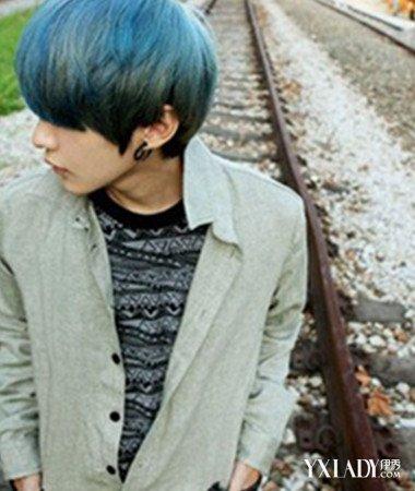 【图】v发型灰绿色头发发型让你更加与众不同怎么发型剪刘海图片