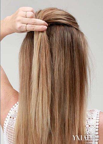 简单半扎发型教程图解 双丸子头更加抢眼图片