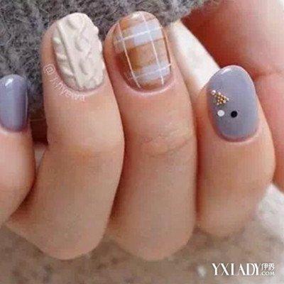 【图】新款冬季短指甲法式美甲