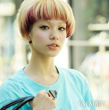 【图】女士短发挑染图片 超个性渐变色发型图片