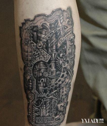 欧洲男人小腿纹身分享展示