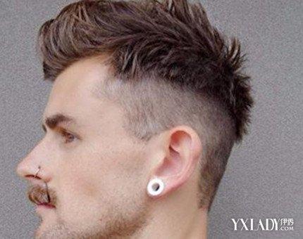 【图】欣赏国字脸男生发型短发铲两边斜刘海图片