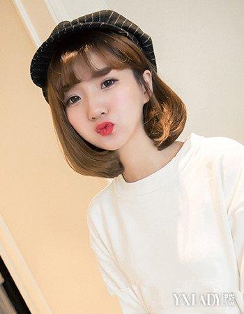 发型 流行发型 正文  这款韩式中短卷发烫发是很多短发控mm青睐的韩式图片