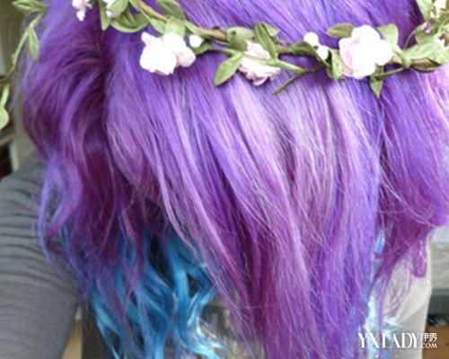 紫色渐变头发图片大全 详解染发时的注意事项