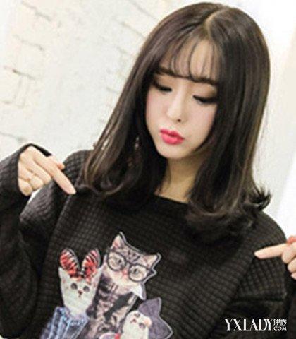 【图】韩国空气斜刘海发型图片大全 韩式少女风走起图片