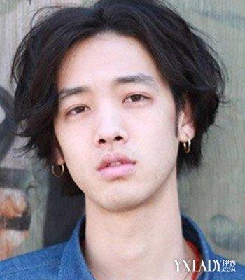 图】发型中分展示学生发型男潮头烫发帅气图片大适合齐刘海吗图片