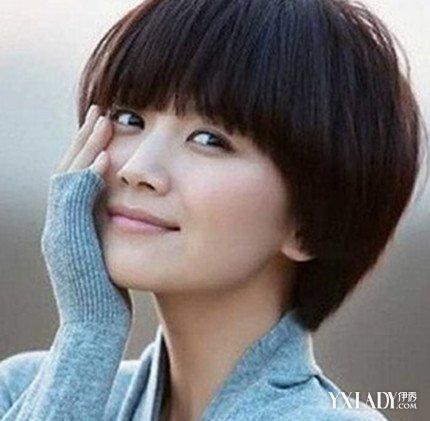 【图】平刘海发型齐耳蓝色图片展示4款可爱发渐变图片短头发短发图片